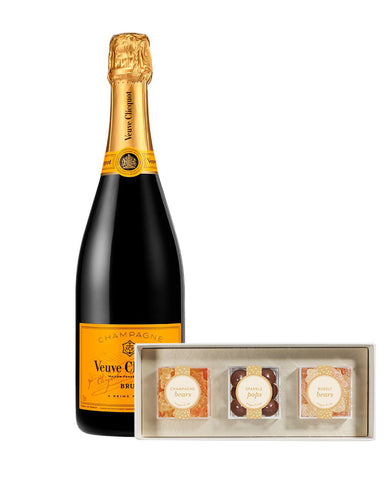Veuve Clicquot Yellow Label with Sugarfina Sweet & Sparkling 3pc Candy Bento Box