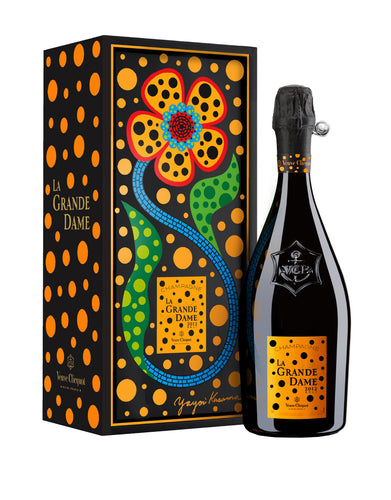 Veuve Clicquot La Grande Dame 2012 x Yayoi Kusama Limited Edition bottle with case