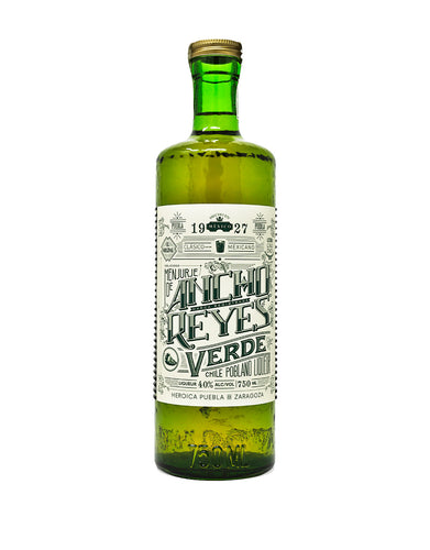 Ancho Reyes Verde chile liqueur bottle