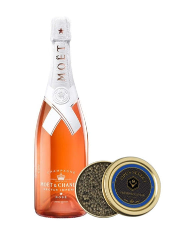 Moët & Chandon Nectar Impérial Rosé by Virgil Abloh with Opus Select Premium Caviar (8oz)