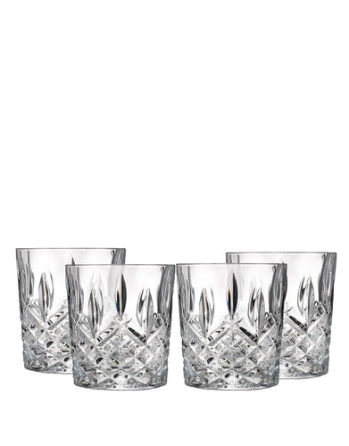 4 Markham Marquis by Waterford Double Old Fashioned Glasses