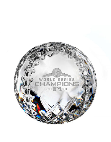 Waterford 2018 World Series Champions Boston Red Sox Paperweight