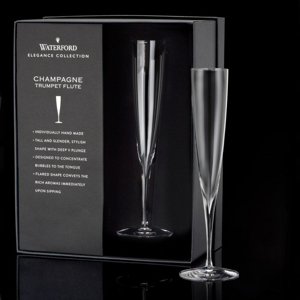Load image into Gallery viewer, Waterford Elegance Champagne Trumpet Flutes
