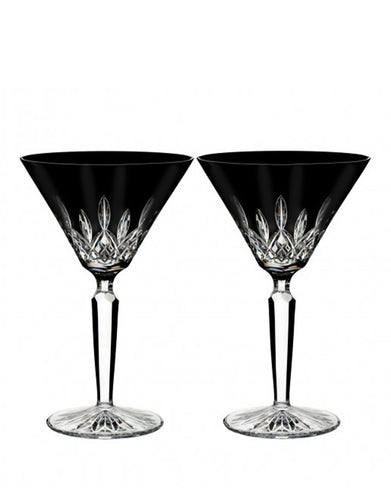 Waterford Lismore Black Martini 8 Oz Set
