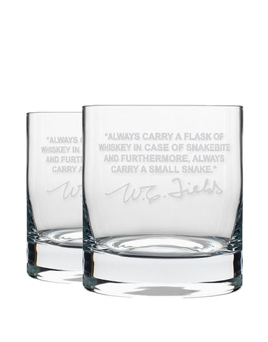 Bourbon & Boots Whiskey Legend Cocktail Glasses - W.C. Fields