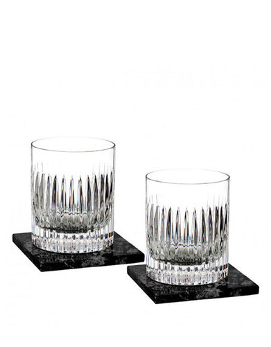 Waterford Aras Dof 12 Oz Set With Marble Coasters
