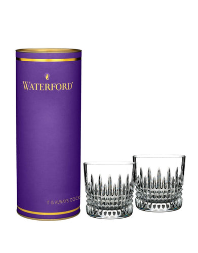 Waterford Giftology Lismore Diamond Tumbler Set with Purple Tube 9oz
