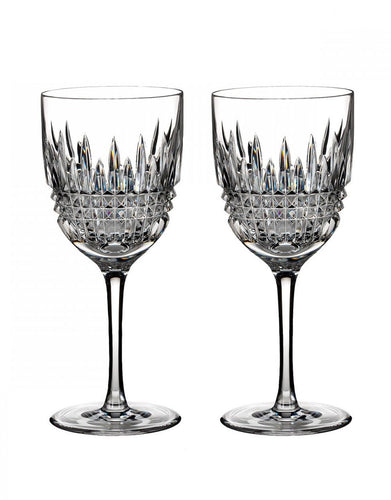Waterford Lismore Diamond Goblet Pair
