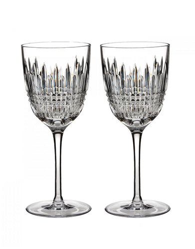Waterford Lismore Diamond White Wine Pair