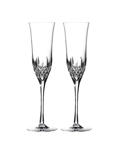 Waterford Lismore Essence Champagne Flute Pair