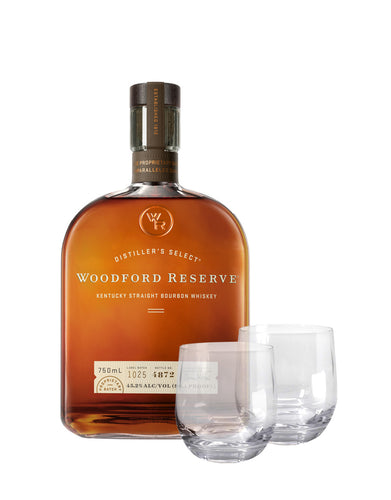 Woodford Reserve® Bourbon with Dartington Tumbler Set