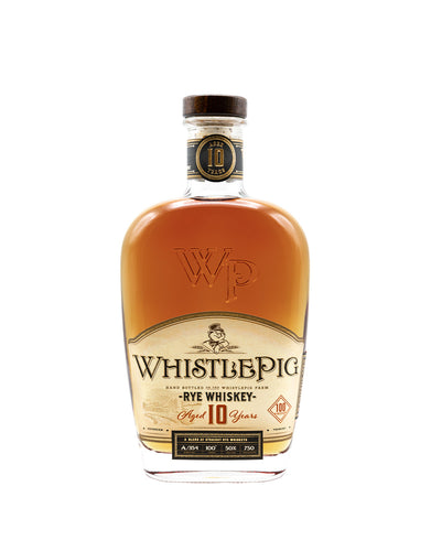 WhistlePig 10 Years 100 Proof Rye Whiskey bottle