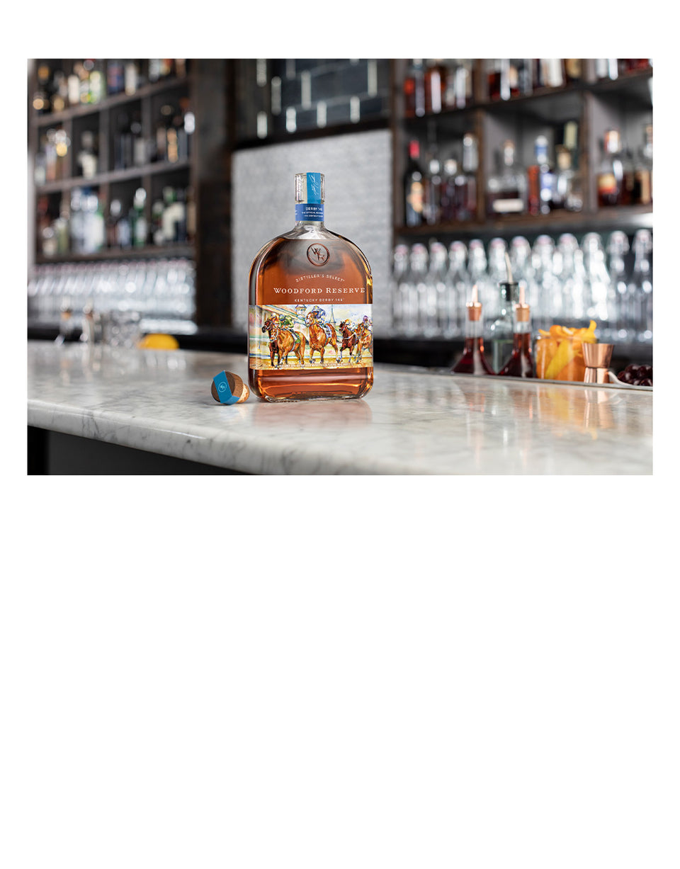 Load image into Gallery viewer, Woodford Reserve® 2020 Kentucky Derby® 146 Bottle with 4 Markham Marquis by Waterford Double Old Fashioned Glasses
