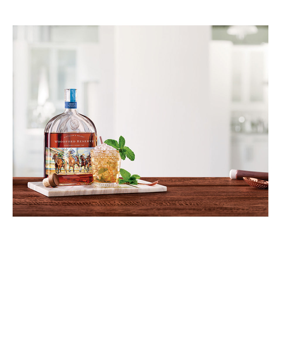 Load image into Gallery viewer, Woodford Reserve® 2020 Kentucky Derby® 146 Bottle with Dartington Wine & Bar Tumbler Pair
