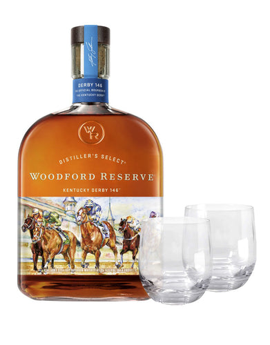 Woodford Reserve® 2020 Kentucky Derby® 146 Bottle with Dartington Wine & Bar Tumbler Pair