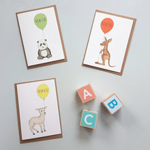 Load image into Gallery viewer, Charming hand illustrated gender neutral new baby cards