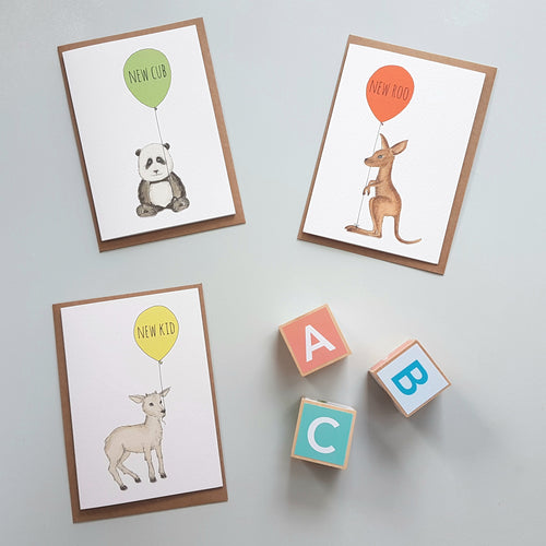 New Baby - 3 pack card set