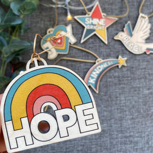 HOPE Wooden Christmas decoration