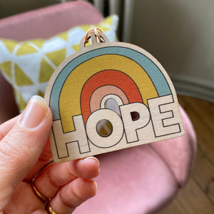 HOPE Wooden decoration