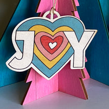 Load image into Gallery viewer, JOY Wooden Christmas decoration