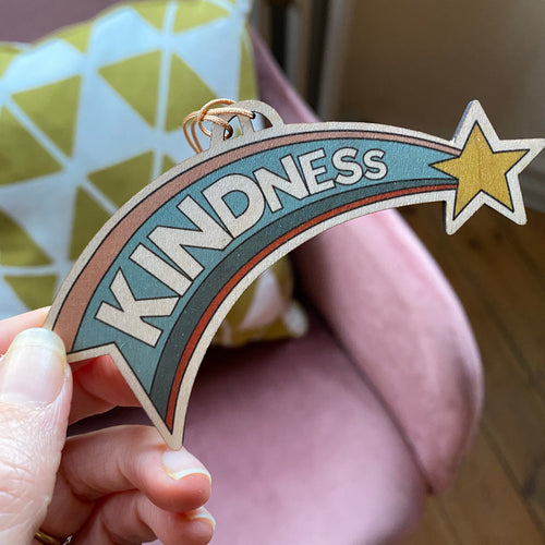 KINDNESS Wooden Christmas decoration
