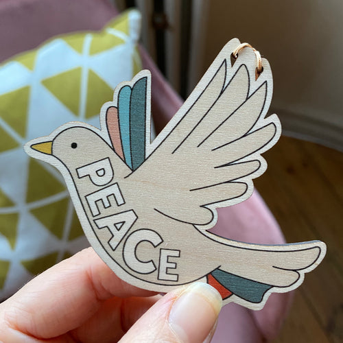 PEACE Wooden decoration