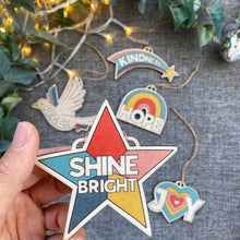 Load image into Gallery viewer, SHINE BRIGHT Star Wooden decoration