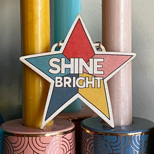 SHINE BRIGHT Star Wooden Christmas decoration