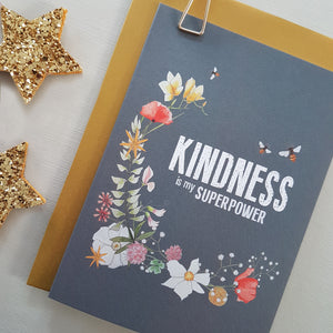 Kindness is my Superpower - card