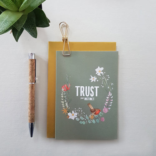 Trust your Instinct - card