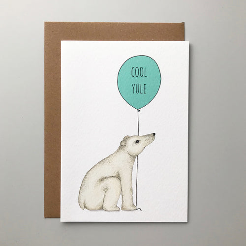 Polar Bear Cool Yule Christmas card