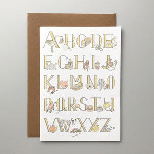Baby A to Z card