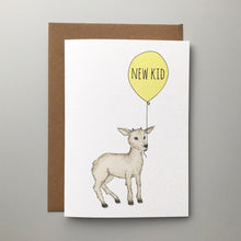 Load image into Gallery viewer, New Kid! Charming hand illustrated animal new baby card