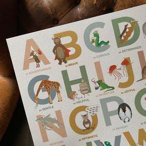 Alphabet of Emotions print - Autumn Edition (Landscape)