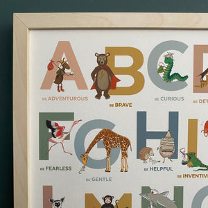 Alphabet of Emotions print - Autumn Edition