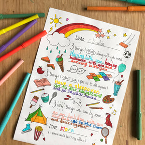 Post Pals lockdown letter - FREE downloadable colouring sheet