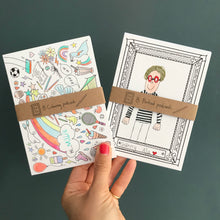 Load image into Gallery viewer, Post Pals - Colouring postcard double pack!