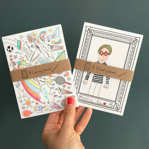 Post Pals - Colouring postcard double pack!