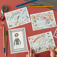 Load image into Gallery viewer, Post Pals - Mixed Pack of Colouring postcards (8pk)
