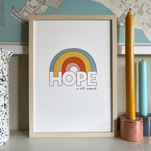 Load image into Gallery viewer, HOPE rainbow print