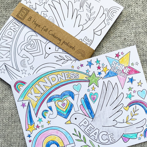 Hope-full Colouring postcards - 8pk