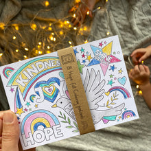 Load image into Gallery viewer, Hope-full Colouring postcards - 8pk