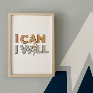 I can, I will! Typographic print