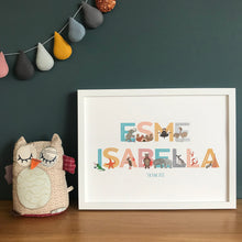 Load image into Gallery viewer, Personalised Alphabet of Emotions children's name print