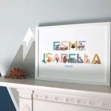 Load image into Gallery viewer, Personalised A to Z of Emotions Name print - Block style