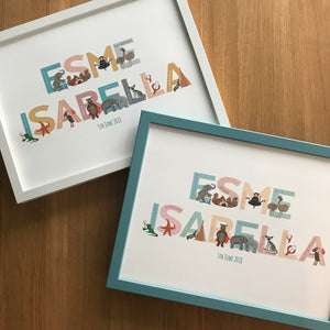 Personalised A to Z of Emotions Name print - Block style