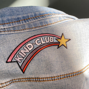 KIND CLUB iron-on patch