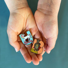 Load image into Gallery viewer, 'Be Brave' Bear enamel pin