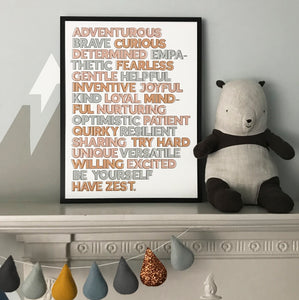 A to Z of Positivity - typographic print