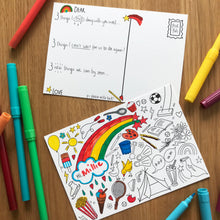 Load image into Gallery viewer, Post Pals Postcards - 8 fun postcards for kids to colour, complete & send